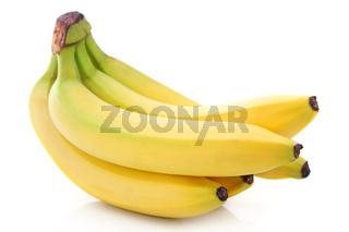 Bunch of ripe banana fruits isolated