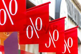 Einzelhandel, Preissenkung in Prozenten
