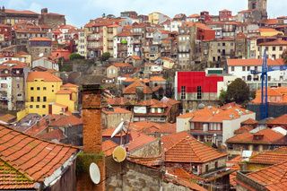 roofs of old town, Porto, Portugal