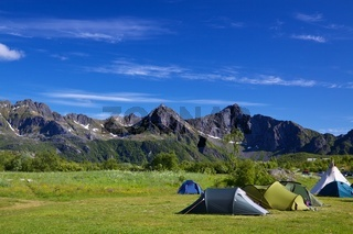 Wildcamping on Lofoten islands