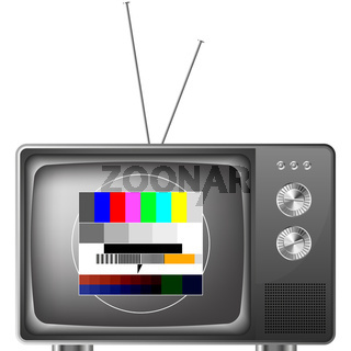 retro television with test image