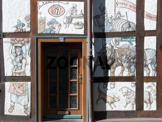 Wandgemälde, Alte Marktstrasse in Hameln