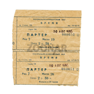 Two old theatre ticket