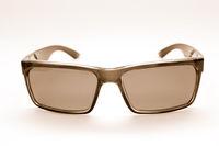 Retro-styled sunglasses isolated on white background.Sepia