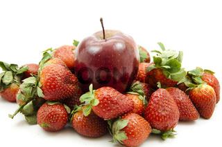 Erdbeeren mit Äpfel