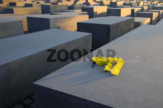 Betonstelen des Holocaust-Denkmals bei Sonnenaufgang,  Mahnmal,