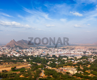 Holy city Pushkar. Rajasthan, India