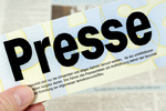 Presseschild / Press sign