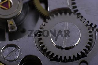 Makroaufnahme eines Uhrwerks
