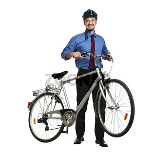 businessman and bicycle