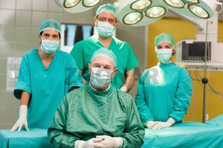 Group of surgeon