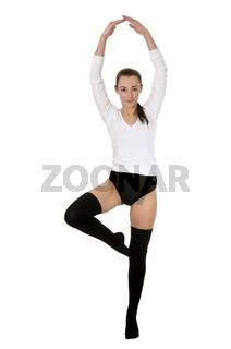 Frau tanzt Ballett