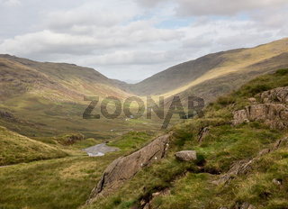 View toward Eskdale from HardKnott Pass