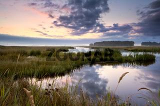 Lekstermeer lake in Drenthe