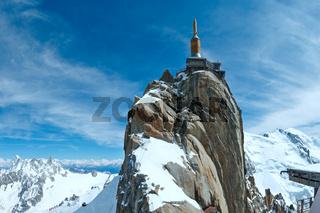 Mountain top station (Aiguille du Midi, France).