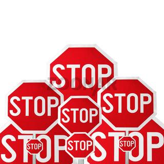 Stop, conceptual image
