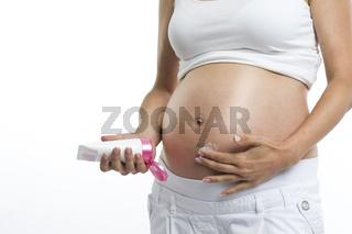 Bauchpflege während der Schwangerschaft