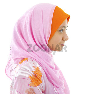 Side view of Muslim woman