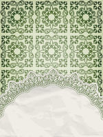 vector lacy napkin on floral background