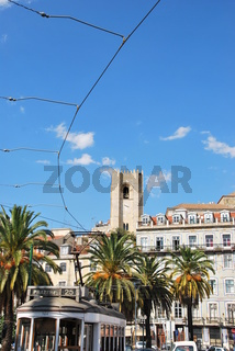 beautiful city sight of the capital of Portugal