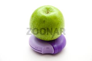 Grüner Apfel auf Inhaler