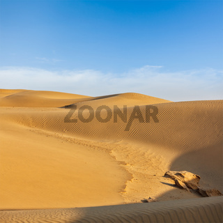 Dunes of Thar Desert. Sam Sand dunes