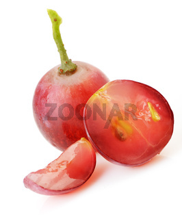 red grapes isolated