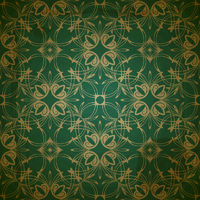 vector seamless floral golden pattern on grungy background with crumpled paper texture
