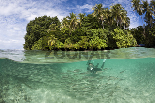 Schnorcheln in der Lagune von Ahe