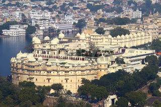 view on lake and palace in Udaipur