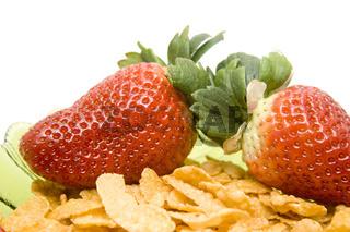 Erdbeeren mit Muesli