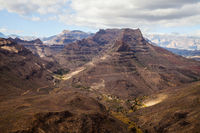 Mountain landscape on Gran Canaria island
