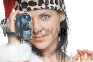 Santa with camcorder