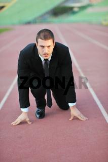 business man in sport