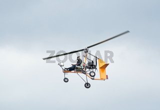 Ultralight autogyro in flight