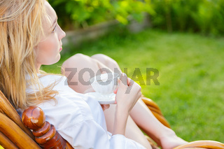 Young woman relax
