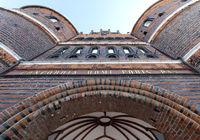 Holstentor Lübeck Blick von unten