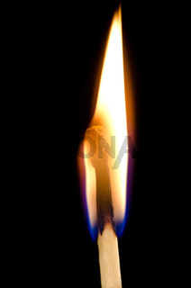 Burning Matchstick Flame