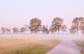 fog in morning in Groningen