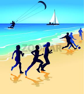 Sport und Spiel am Strand.eps