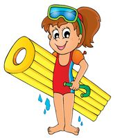 Summer water activity theme 5 - picture illustration.