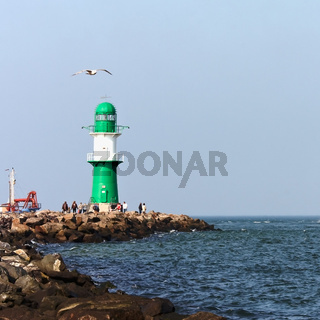Ostsee warnemuende leuchtturm