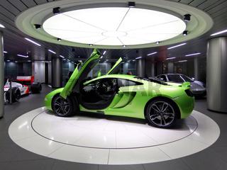 Green McLaren MP4-12C