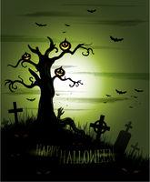 Greeny Halloween background