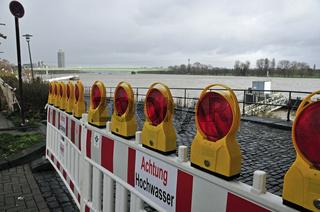 Hochwasser, Rhein, Köln, Nordrhein-Westfalen, Deutschland