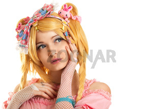 Lolita doll character portrait young woman
