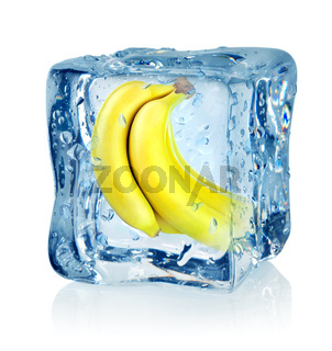 Ice cube and banana