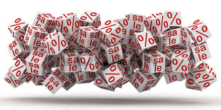 sale cubes with percent discount
