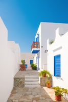 Colorful alleyway in Sifnos, Greece