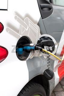 Elektroauto mit Strom tanken
